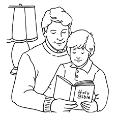 The-father-reading-a-book-to-his-kids