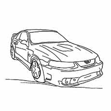 the ford mustang muscle - Mustang Coloring Pages