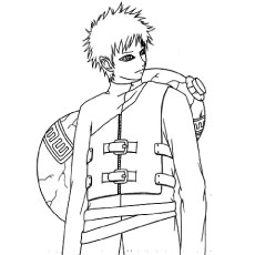 Kakashi Coloring Pages Gaara Of The Desert Coloring Page Free