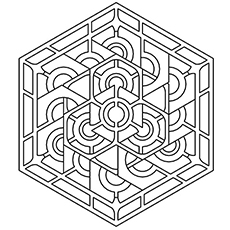 coloring sheet of geometric pattern