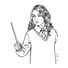 top 20 free printable harry potter coloring pages online - Harry Potter Coloring Pages Ginny