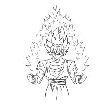 Goku Super Saiyan Printable Coloring Sheet