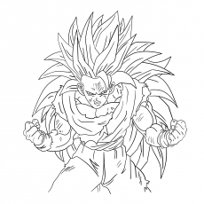 Vegeta Goku Super Saiyan 4 Coloring Pages