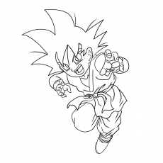 Goten During Childhood Coloring Pages Of Kid