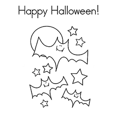 Halloween Bat Picture Coloring Page