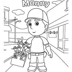 the handy manny - Handy Manny Colouring Pages