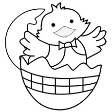 Happy Chick Coloring Sheet to Print