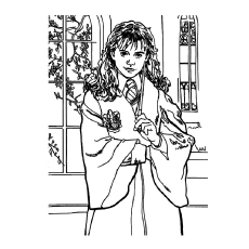 coloring pages main lead character harry potter hermione granger pic to color - Harry Potter Coloring Pages For Kids