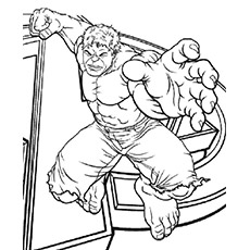 the avengers character hulk coloring page to print