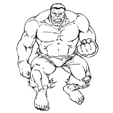 free printable strong incredible hulk coloring page