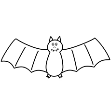 Coloring Sheet of Bat Printable