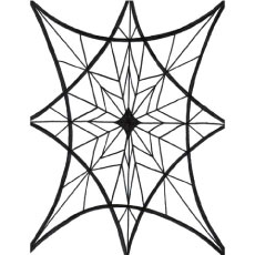 Intricate Web Design Abstract to Color Sheet