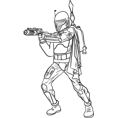 picture colouring page star wars jango fett