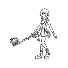 The kairi-with-her-key-blade