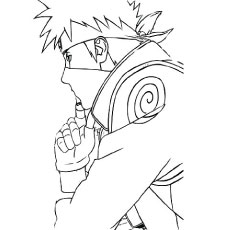 the kakashi hatake - Naruto Coloring Pages