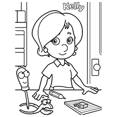 the kelly - Handy Manny Hammer Coloring Pages