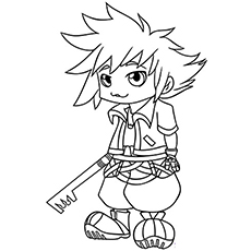 The kid-sora-with-his-key-blade