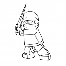 the little ninja with mask - Ninja Coloring Page