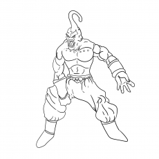 Majin Buu Villain Coloring Pages