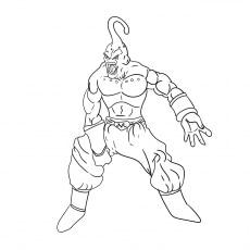 majin buu piccolo character coloring sheet