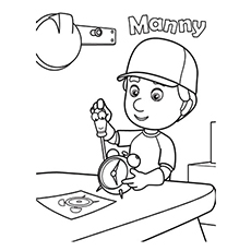 the mannys tool box - Handy Manny Colouring Pages