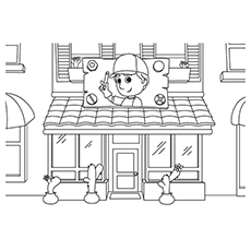 the mannys trusted repair shop - Handy Manny Hammer Coloring Pages