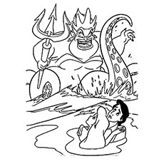 Little Mermaid Wrathful Ursula Coloring Pages