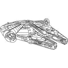 Star War Millennium Falcon Coloring Pages