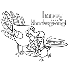 Print These Free Turkey Coloring Pages for the Kids | 230x230