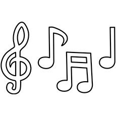 musical notes free printable play violin coloring pages
