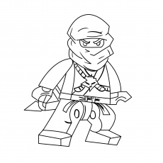 the ninja warrior in alert position - Ninja Coloring Page