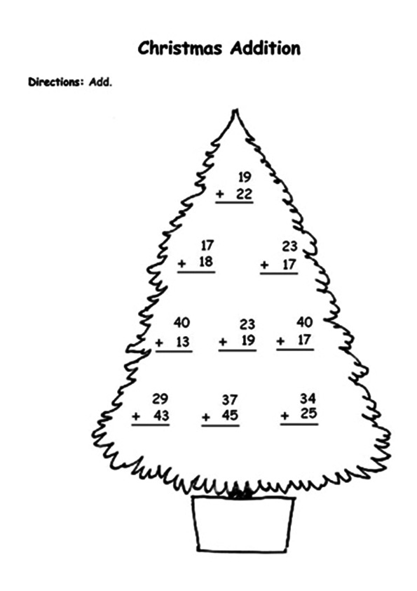The-numbers-on-a-christmas-tree
