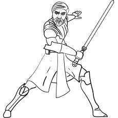 Obi Wan Kenobi Wars Coloring Pages