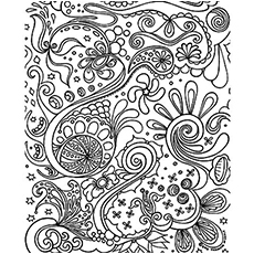 Pattern Organic Coloring Pages