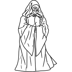 Starwars Palpatine known as the Darth Sidious or simply the Empero Coloring pages