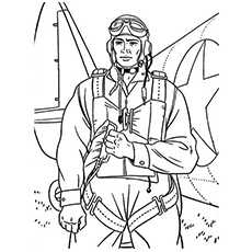 Coloring Page of Paratrooper