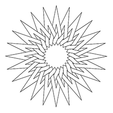 Printable Pointed Star Pattern Coloring Page