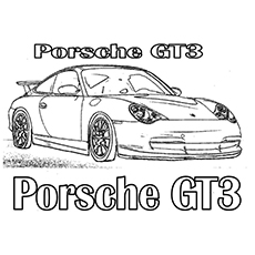 the porsche gt3 - Car Coloring Pages