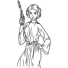 star wars princess leia organa known to be general leia organa coloring pages