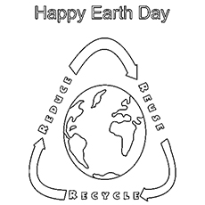 happy earth day image to color - Earth Coloring Pages