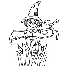 scarecrow of wizard of oz coloring sheet to print