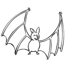 Bat Flying High Coloring Pages to Print
