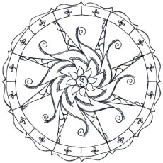 Simple Abstract Design Coloring Pages