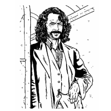 Sirius Black Picture to Color