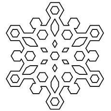 Snowflake Pattern to Color