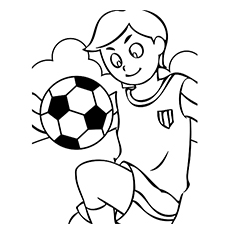 Coloring Page of Soccer Sport to Print