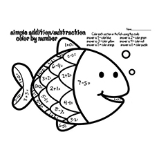 Something Fishy Addition Coloring Pages