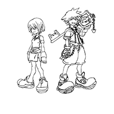 The sora-and-kairi-coloring-pages