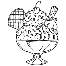 the sipping ice cream soda the sundae - Coloring Page Ice Cream Cone