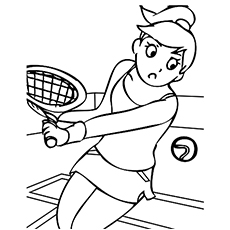 Tennis Sport Picture to Color Free